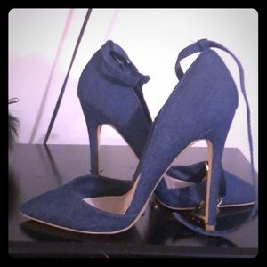 Blue denim shoes